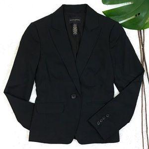 Banana Republic Black Stretch One-Button Blazer